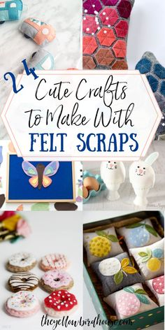 24+ Cute Crafts to Make with Felt Scraps | The Yellow Birdhouse