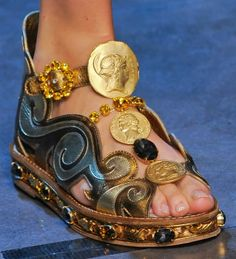 Dolce  Gabbana Spring 2014 Greek and Roman Coins