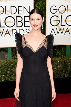 Caitriona Balfe at the 73rd Annual Golden Globe Awards in Beverly Hills on January 10, 2016