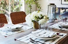"""Sophia couldn't have been more thrilled with the final look. """"There were things we hadn't picked out or even talked about, where Alex just surprised me. He brought in all this dishware and these beautiful place mats, which he said felt reminiscent of the textiles in my house. It was such a gesture."""""""