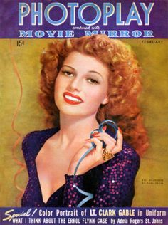 Rita Hayworth on the cover of Photoplay magazine