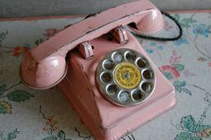 Vintage pink toy phone by Maison Douce, via Flickr