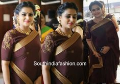 ramya nambeesan brown saree bhavana wedding photo