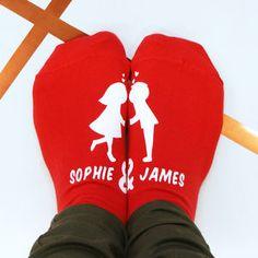 Personalised Kissing Couples Socks
