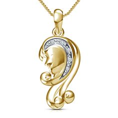 Best Offer For Women's 925 Silver Yellow Gp Virgo Zodiac Sign Pendant With Chain…