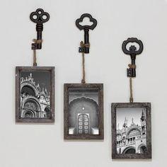 Sophie Vintage Key Frame, Set of 3 World Market