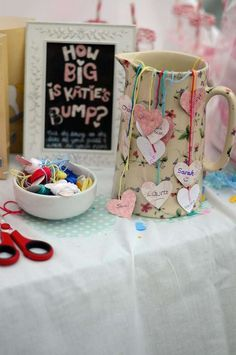 How big is the bump game at a sugar and spice girl baby shower party! See more party planning ideas at CatchMyParty.com!