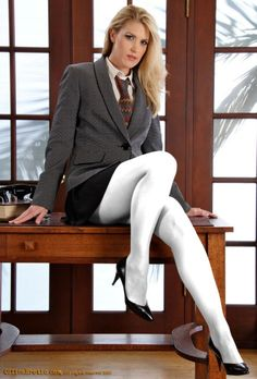 Pantyhose, tights, stockings and more. Pantyhose Outfits, Pantyhose Legs, Tights Outfit, Perfect Legs, Great Legs, Secretary Outfits, Blazers, Wool Tights, White Tights