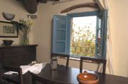 Podere Jana, Vinci, Toscana. Our kitchen & view that I miss - 2008.