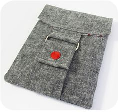 Essex linen pouch - Michelle patterns  Adapt this strap and flap concept to my cross-shoulder bags