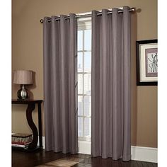 Home Classics Ethan Striped Blackout Window Panel these in grey