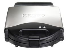 KRUPS F654 Belgian Waffle Maker with Nonstick Plates LED Indicators and Stainless Steel Housing, 4-Slices, Silver >>> You can find more details by visiting the image link.