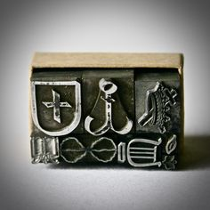 Vintage Letterpress Ornaments or Dingbats Christian Themed for Printing Stamping and Decor by ReminiscencePapers on Etsy