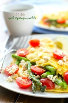 Loaded Greek Asparagus Omelets   Community Post: 28 Delectable Recipes That Are Perfect For A Springtime Brunch