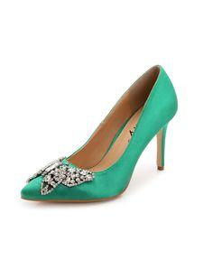 #AdoreWe #VIPme Heels & Pumps - FOBISON Green Fashion Crystal Pointed Toe Stiletto Heel - AdoreWe.com