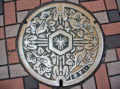 Japanse putdeksels - Japanese manhole covers Shimamoto Osaka
