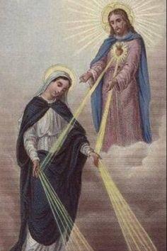 Todas as Graças vem do Coração de Jesus, como de uma Divina Fonte, porém, passam pelas mãos imaculadas de Maria, como por canais. Isso é uma verdade de fé.