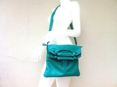 Lady Blue Green Shoulder Bag Hand Stitched by orientaltribe11, $130.00