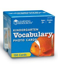 Kindergarten Vocabulary Photo Cards #zulily #zulilyfinds