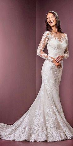 illusion lace long sleeves and neckline wedding dresses ellis bridals