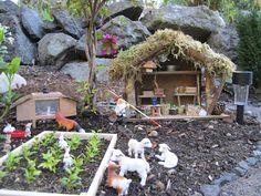 Fairy Garden Farm!!  More gorgeous photos of this magical FAIRY GARDEN on The Magic Onions Blog and FairyGardens.com