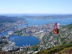 View of Bergen from Mount Ulriken, one of our tips for things to do in Bergen: http://www.europealacarte.co.uk/blog/2011/10/20/what-to-do-bergen/
