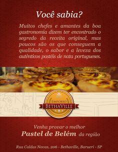 """""""Qualidade, sabor e a  leveza?""""  Não precisa ir até Portugal, pois Portugal veio até o Empório Bethaville!  Carlos Mendes está de volta!"""