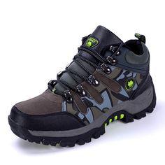 2016 Camuflaje de Escalada Al Aire Libre hombres Zapatos de Trekking Impermeables de Caza Botas de Otoño/Invierno Zapatos de Montaña Impermeables Zapatillas