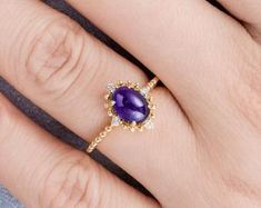 HANDMADE RINGS & BRIDAL SETS by MoissaniteRings on Etsy Amethyst, Sapphire, Bridal Ring Sets, Handmade Rings, Engagement Rings, Merry, Jewelry, Fashion, Rings For Engagement