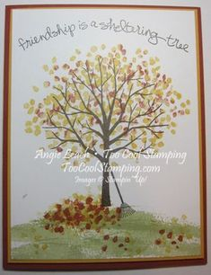 Autumn Leaves Sheltering Tree Cards