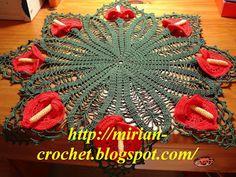 ஜMirian-crochetஜ: Receita da toalhinha calla lily