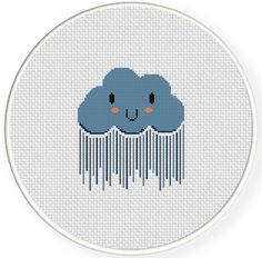 FREE for Feb 14th 2014 Only - Rain Cloud Cross Stitch Pattern