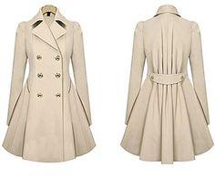 30% Off 2014 Autumn Trench Coat For Women Slim Medium-long Double Breasted: Amazon.co.uk: Clothing