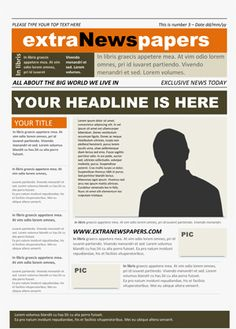Editable Powerpoint Newspapers Powerpoint Template  Newspaper