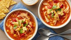 There's no longer any need to visit your favorite neighborhood Mexican restaurant for their signature chicken tortilla soup. This easy-prep recipe simmers for hours, allowing you to serve up café-quality bowls of fresh soup at the end of the day. Slow Cooker Huhn, Slow Cooker Chicken, Slow Cooker Recipes, Crockpot Recipes, Chicken Recipes, Cooking Recipes, Turkey Recipes, Best Soup Recipes, Healthy Recipes