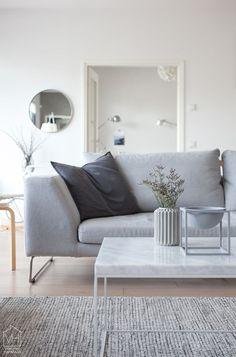 Salon inspiration scandinave en gris clair  | Scandinavian Light Grey living room