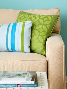 Stenciled pillow: BHG