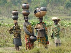 Batwa women in Burundi cropped - Great Lakes Twa - Wikipedia, the free encyclopedia List Of Countries, Countries Of The World, Wood Sculpture, Garden Sculpture, Financial Inclusion, Great Lakes, African Women, Wearable Art, History