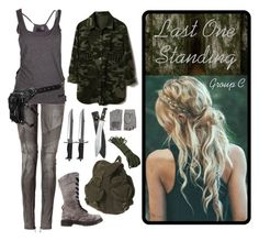 Maze Runner by skyausten on Polyvore featuring polyvore, fashion, style, Balmain, Dr. Martens, Topshop, Causse, Whetstone Cutlery and Holster