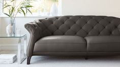 Quilted 2-3 Seater Sofa Leather