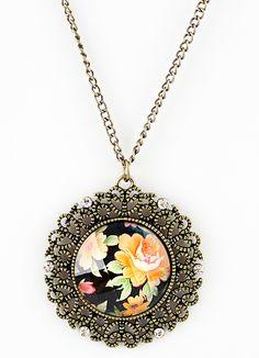 New Arrival Vintage Unique Elegant Flower Necklace - Sheinside.com