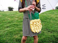M.a.k.e. D.I.Y. Pineapple bag for little girls!