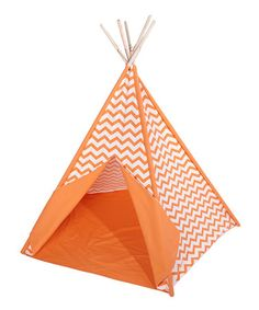 Look what I found on #zulily! Orange Zigzag Teepee by KingMax Product #zulilyfinds