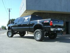 Ford F-350 Lifted custom  black limo Truck