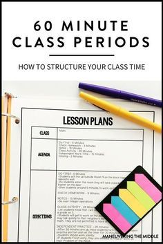 Ideas for Structuring a 60 Minute Class