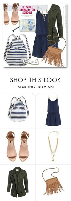 """""""Back to School"""" by tanyaf1 ❤ liked on Polyvore featuring BAGGU, Heidi Klein, H&M, Vince Camuto, Patchington, Chanel, women's clothing, women, female and woman"""