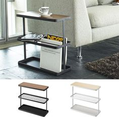 Incroyable Arne Interior: Side Table Bed Table Compact Sofa Side Storing Bedside  Magazine Storing North Europe Slim Thin Space Saving Bed Table Tower  (tower) White ...