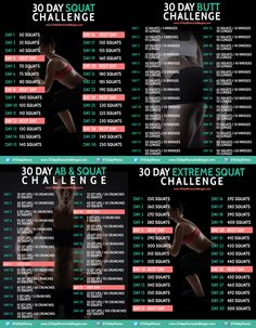 30 DAY FITNESS CHALLENGES: ABS + BOOTY – Rebel Dietitian, Dana...