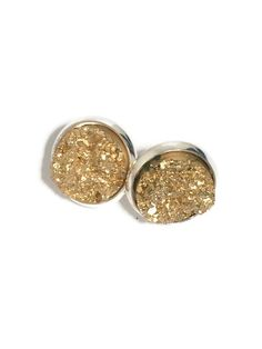 druzy studs, gold studs, gold and silver studs, druzy, drusy studs, gold drusy studs, druzy earrings, gold earrings DBKL106