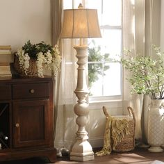 Don't just light up your room, illuminate it. Our Mackinaw Cream Floor Lamp is on of our favorite pieces, featuring a beautiful turned spindle design it will stand out with its antique cream finish and have your guest doing a double take.